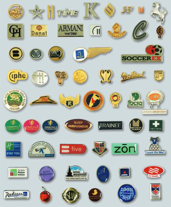 lapel pins enamel badges corporate insignia staff name badges