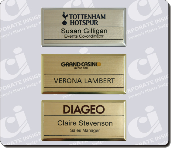 Re-Usable Name Badges - Corporate Insignia Staff Name Badges