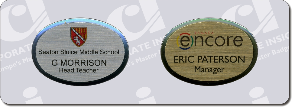 The Oval Petite - Corporate Insignia Company Name Badges